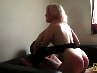 Choked Uk Slut Throated With Dildo