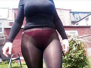 Spandex Angel - Sexy See Through Leggings Outside