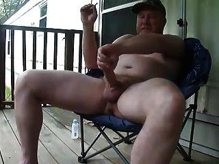 Verbal Redneck Daddy Porch Jerk Off & Cum