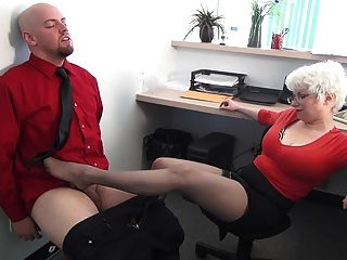 Secretary Dominates His Boss -- Mfl