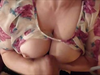 Mom Strokes A Big Load Of Cum Onto Her Chest