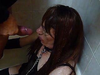Shelly - Sissy Shower!