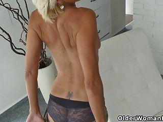 Skinny Milf Sunny Strips Off And Masturbates