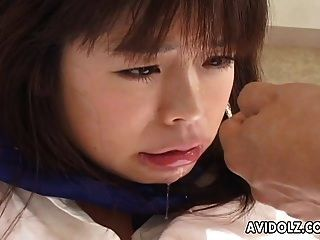 Asian School Babe Getting Fucked Doggystyle So Hard