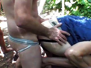 Forest Bareback Fuck 3+1