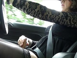 Sexy Crosdresseralison Thighbootboy Wanking Whilst Driving