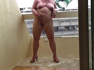 Masturbating On My Balcony Part 1
