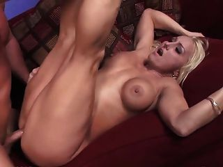 Blonde Big Tits Stripper Take A Facial
