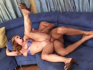Blonde Milf Big Tits Swallows A Huge Load