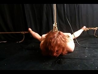 Tied Slave Made To Orgasm