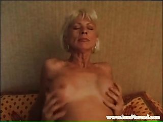 Pierced Granny With Pussy Rings Riging Young Cock