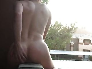 Exhibitionist Almost Caught Jacking In Public On My Balcony