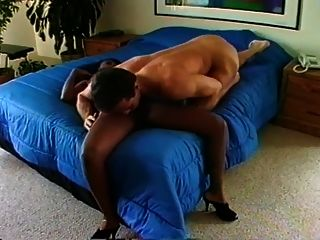 Horny Black Chick Fucks Peter North