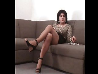 Samanta In Leopard Dress