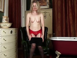 Emma Turner Takes Off Her Pantyhose