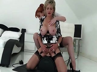 2 British Milfs And The Sybian