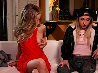 Goldie Rush And Rachel James Amazing Teenie Lesbian Sex