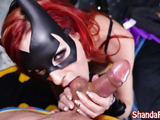 Batgirl Shada Fay Gets Anal Creampie In Batcave