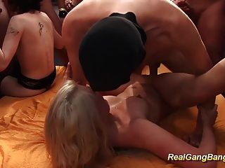 Cute Teens First Real Gangbang Party