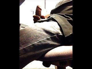 Str8 Coworker Cubicle Jerk Off & Cum
