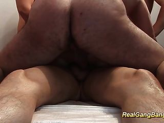 German Milf In Her First Gangbang
