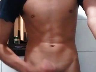 Sweet Sexy Boy Cum On Mirror