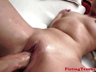 Petite Babe Loves Fisting Her Lesbian Lover