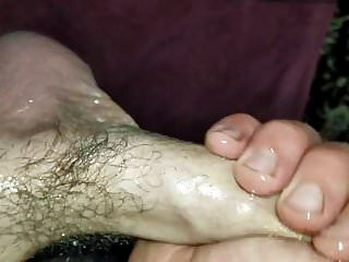 Jerking My Oiled Up Hot Cock