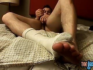 Bryce Corbin Strips To His Socks And Vigorously Masturbates