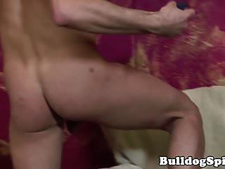 Ripped Inked Twink Jerks While Toying His Ass