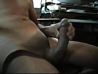 Posing & Stroking Big Shaved Cock To Cumshot