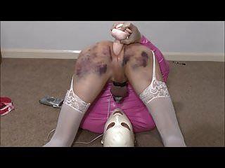 Slutty Maid Nicole Electro Chastity Cum Eating
