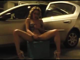 Stripping And Fingering In A Public Garage