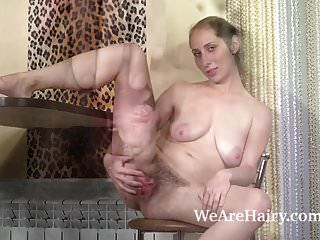 Baby Boom Enjoys Sexy Masturbating On Her Table