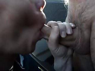 Mouthful Of Cum For Wife Next To Car In Park!
