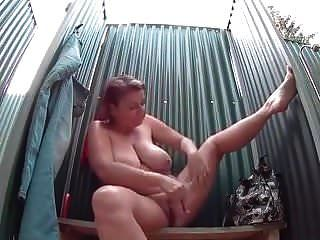 Mature Woman With Big Tits Takes A Sexy Shower