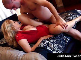 Elegant Milf Julia Ann Gets 2 Cocks In Her Mouth & Pussy!