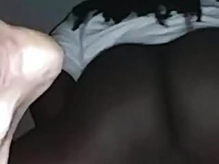 White Slut Rubs Her Pussy Till She Cums All On My Black Cock