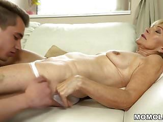 Old Lady Enjoys Deep Fuck With Her Younger Lover