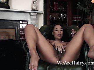 Kayla Louise Strips Nude On Her Armchair