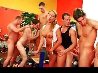 Bisexual Orgy At The Gym Part 2