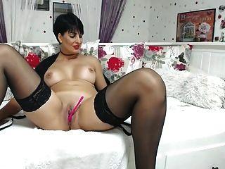 Stockings Milf On The Sofa