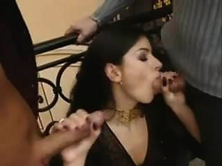 High Society Lady Gets Fucked And Facialed By Two Guys