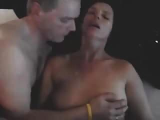 Bull Cums On Hubby And Wife