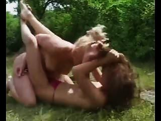 Topless Outdoor Catfight
