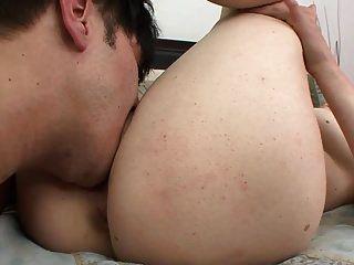 Busty Bitch Sucks, Titty Fucks, And Fucks
