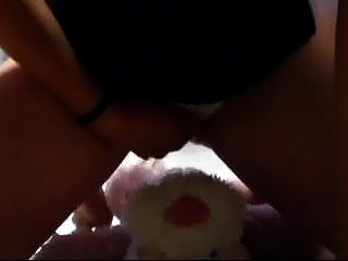 Peeing In My Panties And Rubbing My Pussy With A Cuddly Toy