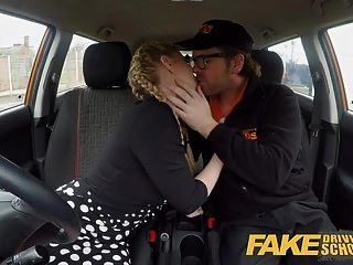 Fake Driving School Busty Blonde Georgie Lyall Car Sex