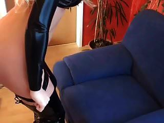 Cute Slut In Black Latex Top And Thigh Boots Fucked And Tit