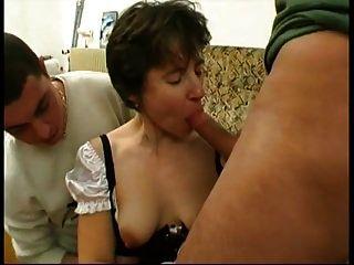 Marina Fucked In Maid Uniform By 2 Guys